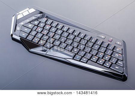 Futuristic Gaming Keyboard On Black
