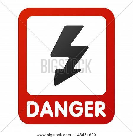 Attention hight voltage icon danger button and attention warning sign. Attention security alarm symbol. Danger warning attention sign with symbol danger zone information and notification icon vector