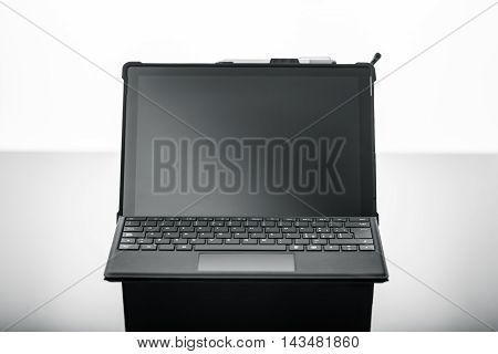 Laptop On Black Surface