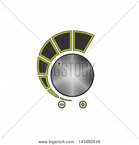 Volume Control Isolated on White Background ,Power Control,Vector Illustration
