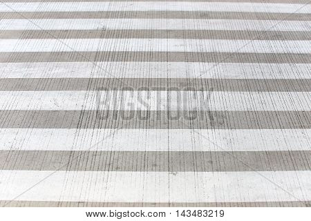 Zebra crossing or crosswalk on street for walk across.