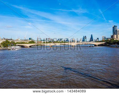 Waterloo Bridge In London Hdr