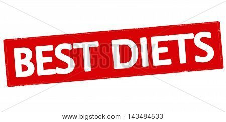 Rubber stamp with text best diets inside vector illustration