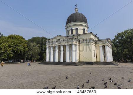 Chisinau, Moldova - July 30, 2016: Cathedral Park On July 30, 2016 In Chisinau, Moldova. Nativity Ca