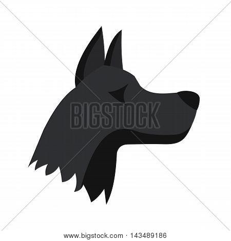 Doberman dog icon in flat style isolated on white background. Animals symbol