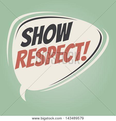 show respect retro speech balloon