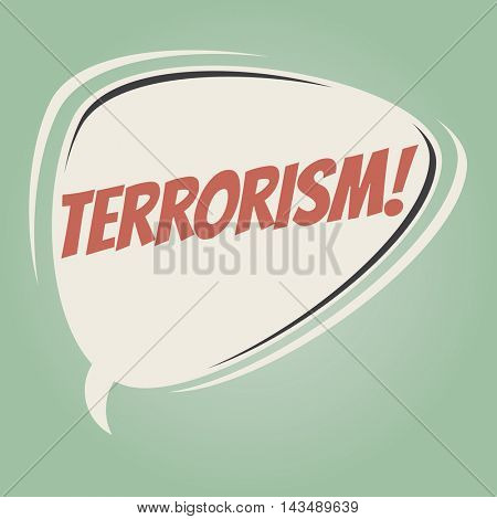 terrorism retro speech balloon