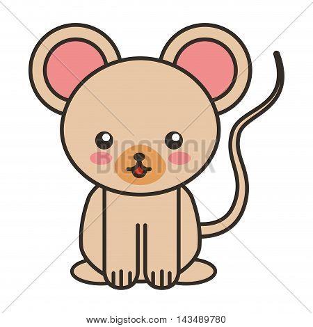 cute bear animal tender isolated icon vector illustration design