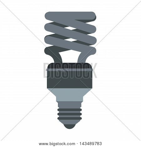 Energy saving lamp icon in flat style isolated on white background. Lighting symbol