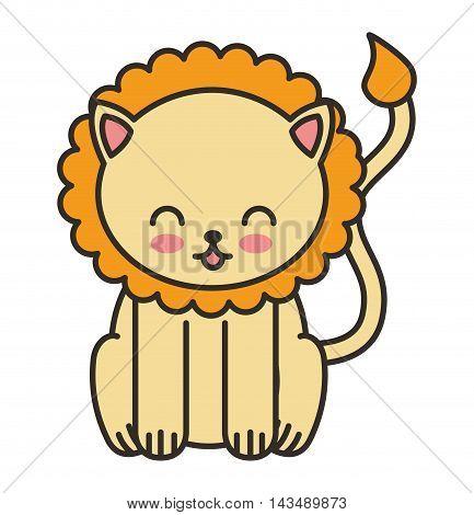 cute animal tender isolated icon vector illustration design