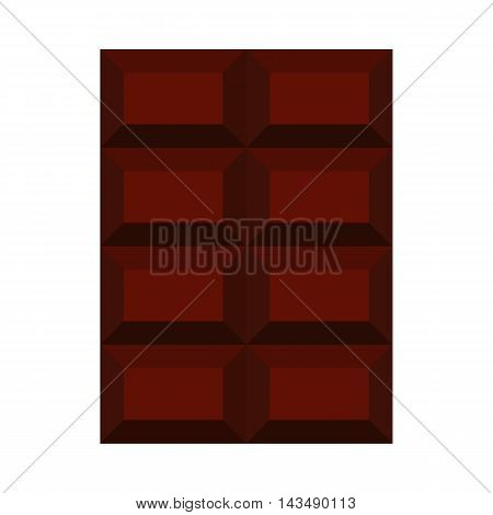 Chocolate icon in flat style isolated on white background. Sweets symbol