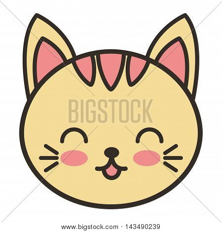 cute cat animal tender isolated icon vector illustration design
