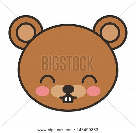 cute bear animal tender isolated icon vector illustration design