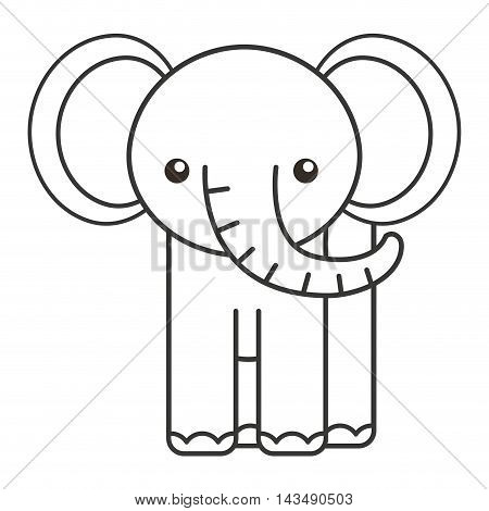 cute elephant animal tender isolated icon vector illustration design