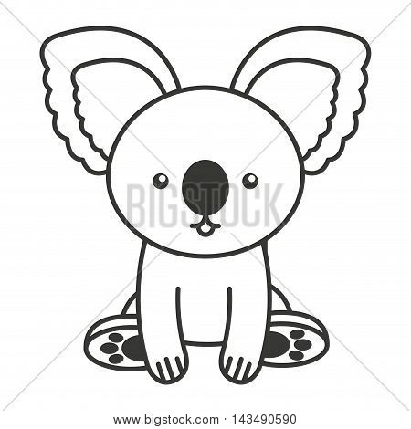 cute koala animal tender isolated icon vector illustration design