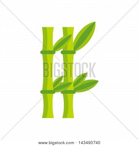 Bamboo icon in flat style isolated on white background. Trees and plants symbol