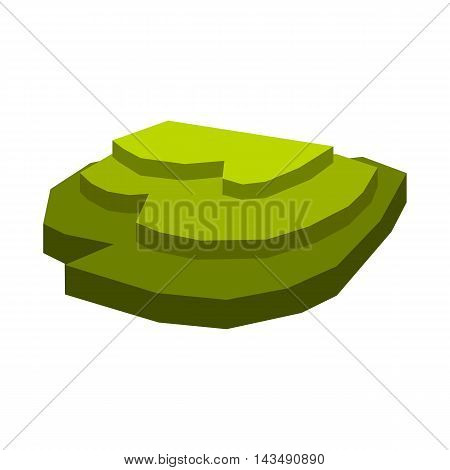 Rice field icon in flat style isolated on white background. Plants symbol