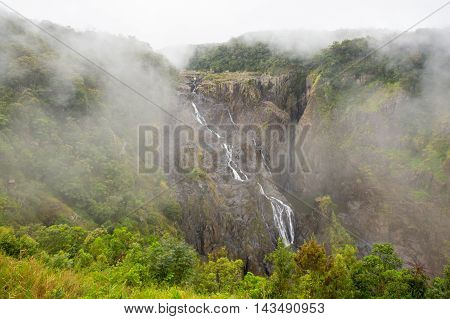 The famous Barron Falls seen from the Kurunda Railway in Queensland, Australia