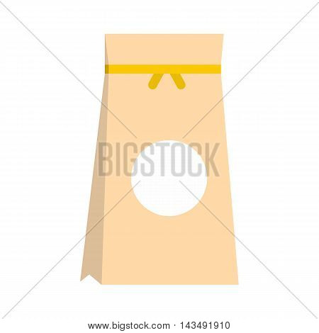 Paper packing icon in flat style isolated on white background. Packaging symbol