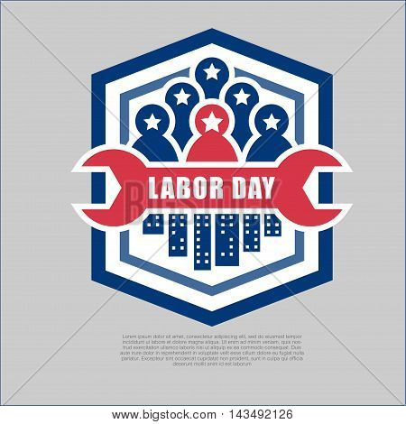 Labor day logo & banner Vector illustration