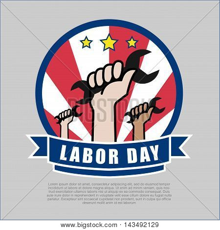 Labor day Logo design vector illustration Graphic design