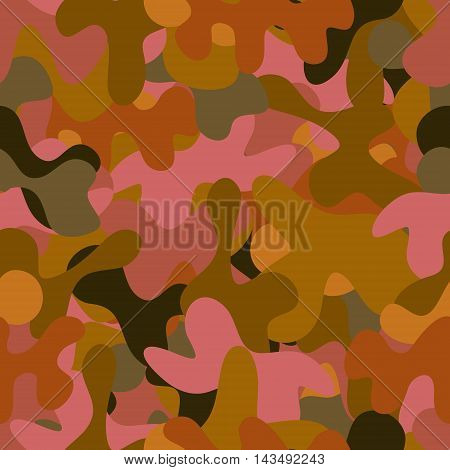 abstract vector chaotic spotted seamless pattern - green and red