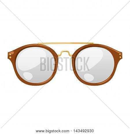 Vector glasses isolated on white background. Hipster fashion glasses. Glasses tool for human face isolated vector illustration