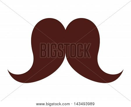 mustache hipster style isolated icon vector illustration design