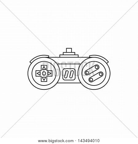 Joystick icon in outline style isolated on white background