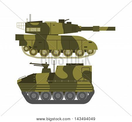 Self propelled artillery isolated with road fragment and military vehicle isolated. Tank isolated defense, heavy, soviet forces and isolated combat track transportation history barrel.