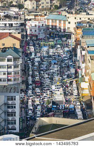 Nairobi Matatu Bus Station, Kenya, Editorial