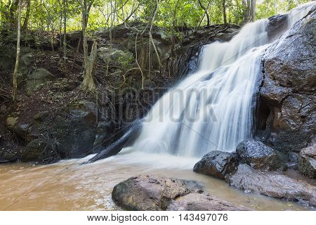 Waterfall In Karura Forest, Nairobi, Kenya