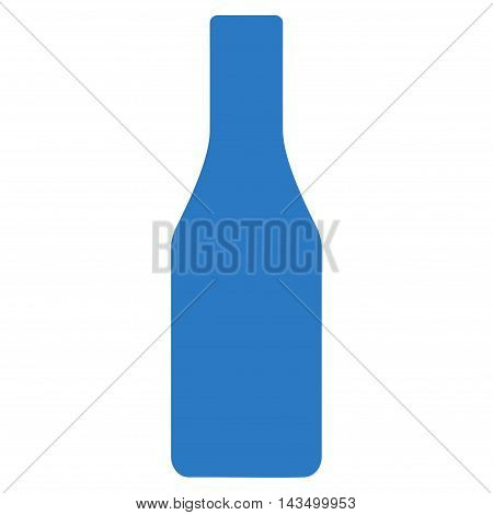 Beer Bottle icon. Vector style is flat iconic symbol, smooth blue color, white background.