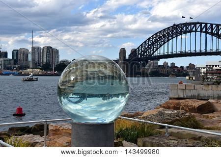 Sydney, Australia - Aug 19, 2016. Sculpture at Barangaroo. Free temporary exhibition transforms Barangaroo Reserve into an open-air sculpture park to capture the imagination of the visitors.