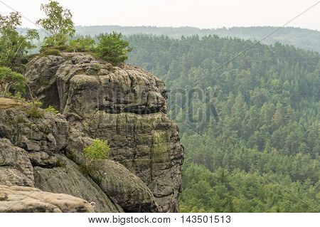 Sandstone Rocks In The Bohemian Paradise Of The Czech Republic