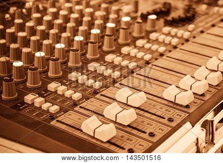 Image Of Sound Mixer Panel .
