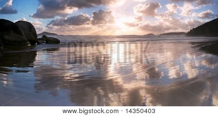 Sunset over Whiskey Beach, Wilson's Promontory, Victoria, Australia.