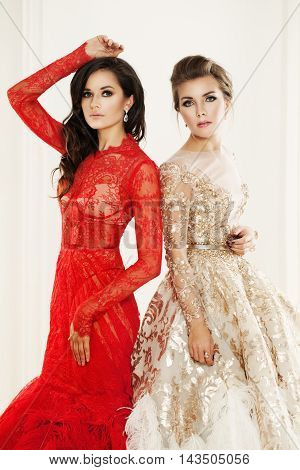 Beauty Fashion Portrait of two Glamorous Women