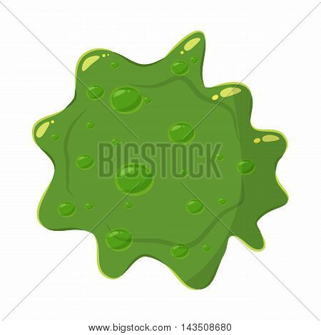 Slime blot isolated on white background. Green slime blot vector illustration