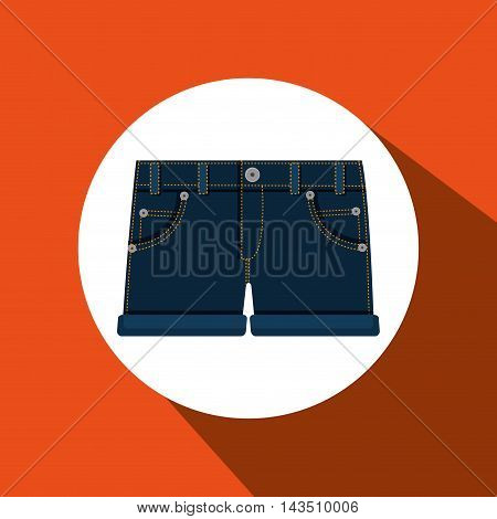 jeans woman closet clothes vector illustration design
