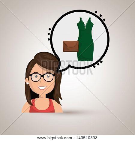 woman clothes closet vector illustration design eps 10