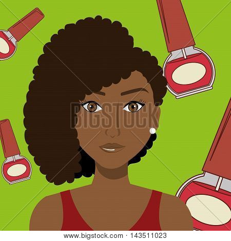 woman cosmetic nail stylist vector illustration graphic