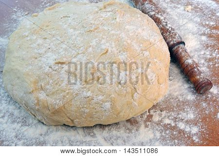 Dough And Rolling Pin