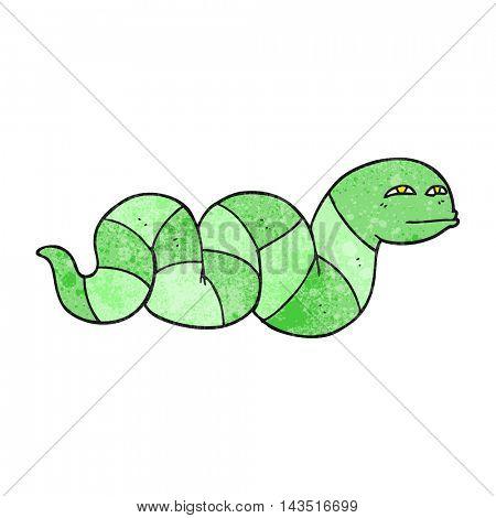 freehand textured cartoon snake