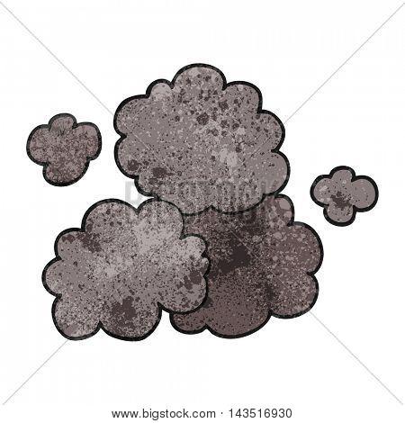 freehand textured cartoon smoke cloud