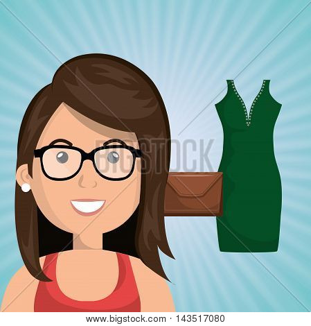 woman clothes closet vector illustration graphic eps 10