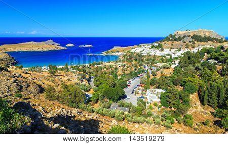 Lindos on the Greek Island of Rhodes