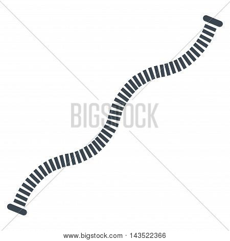 Flexible Pipe icon. Vector style is flat iconic symbol, smooth blue color, white background.