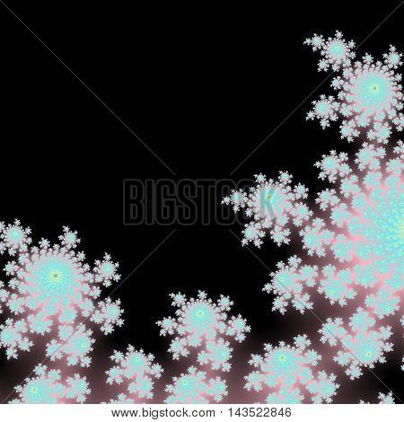 White floral background picture with dark underlay