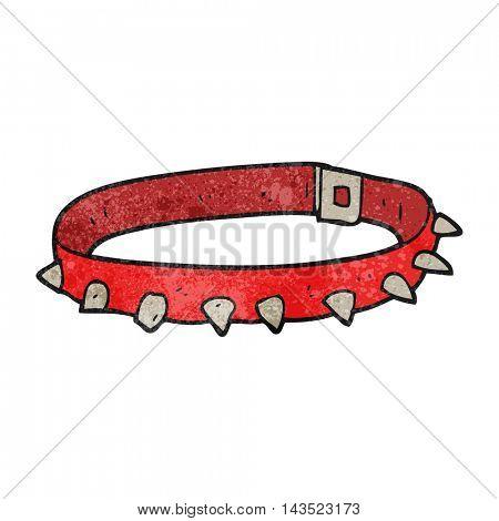 freehand textured cartoon dog collar